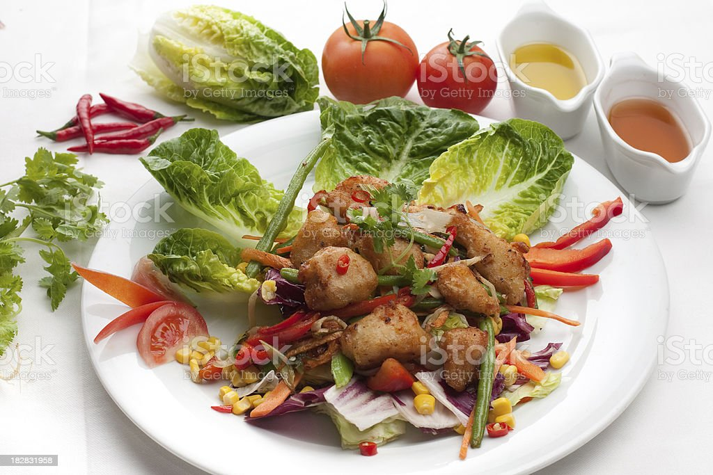 crispy chicken Salad royalty-free stock photo