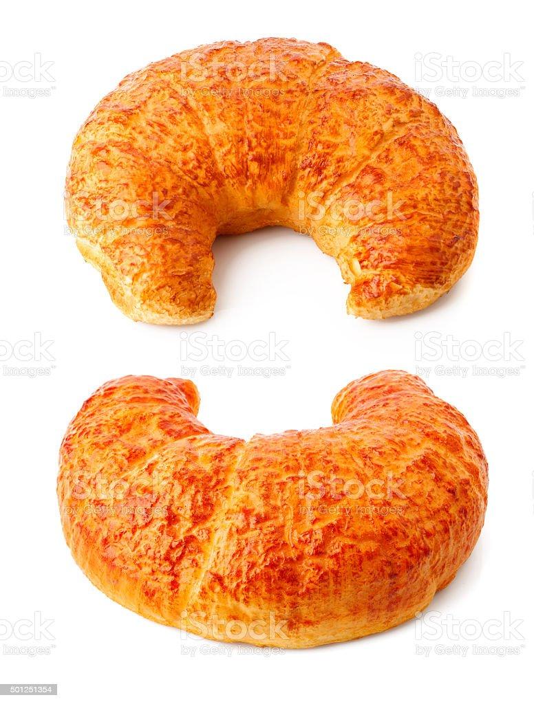 Crispy Croissanty słodkie do pieczenia zbiór zdjęć royalty-free