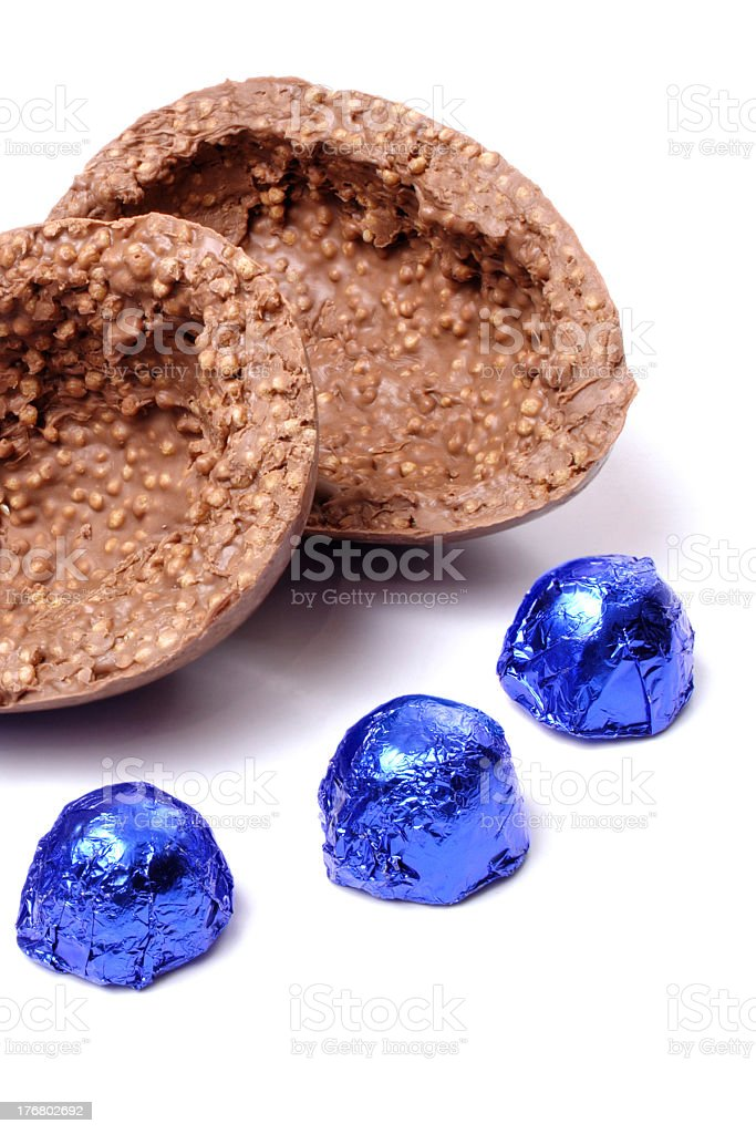 Crispy Easter egg detail with bonbons royalty-free stock photo
