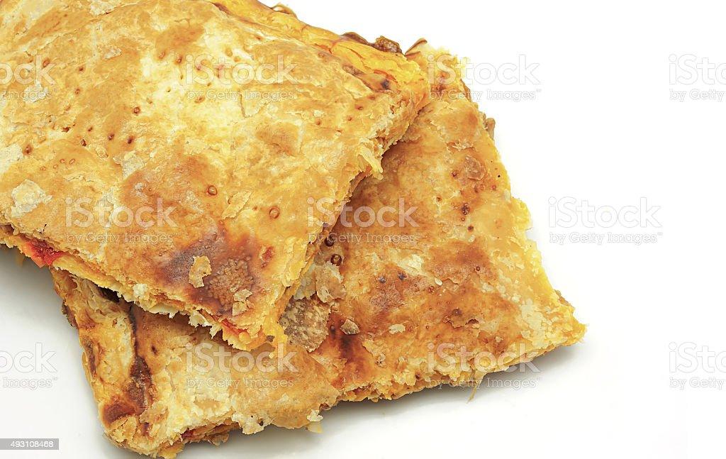 Empanada Gallega crocante, torta de tradicional e típico da Galícia em foto royalty-free
