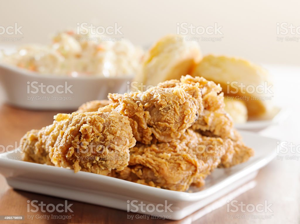 crispy fried chicken meal stock photo