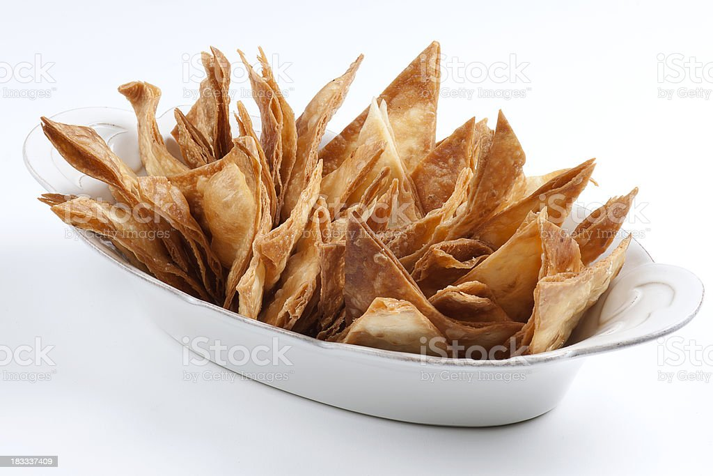 crispy lavash stock photo