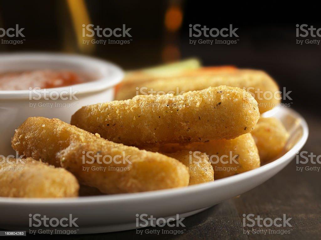 Crispy Mozzarella Sticks royalty-free stock photo