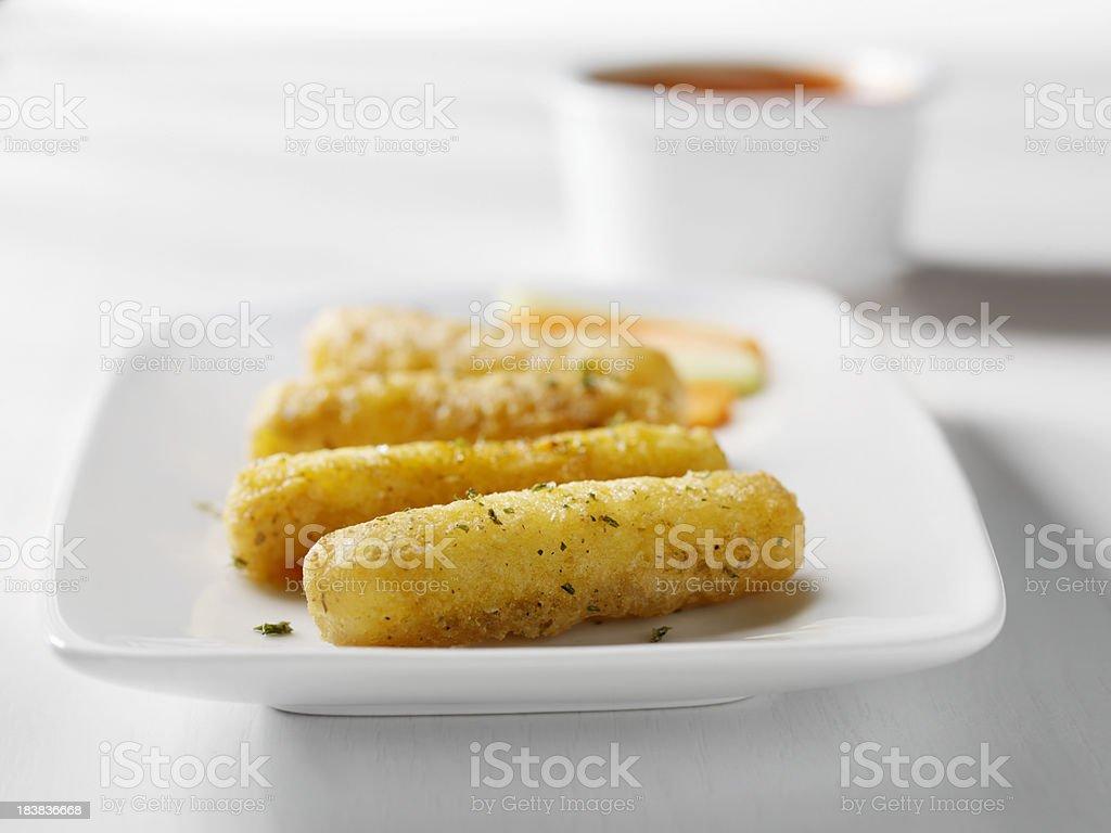 Crispy Mozzarella Sticks stock photo