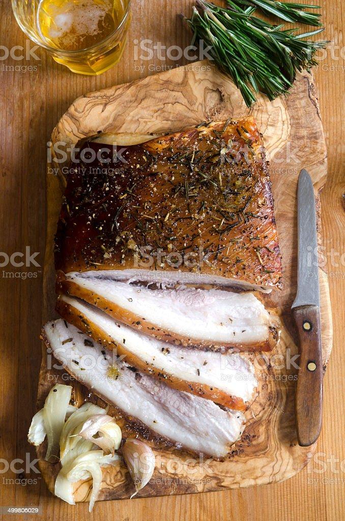 Crispy pork belly stock photo