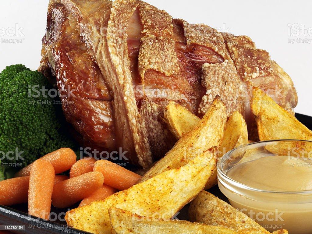 Crispy Roasy Pork stock photo
