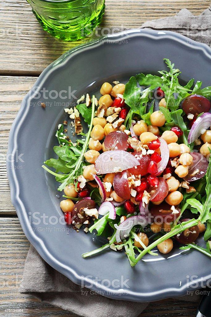 Crispy salad on a plate stock photo