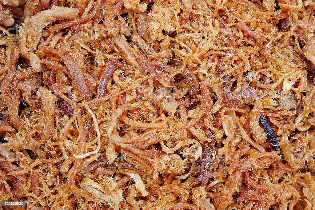 crispy shredded pork, asian gourmet snack food stock photo