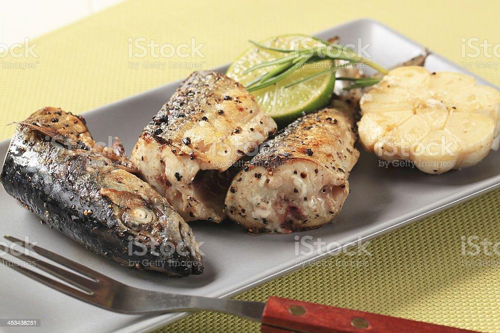 Crispy spiced mackerel royalty-free stock photo
