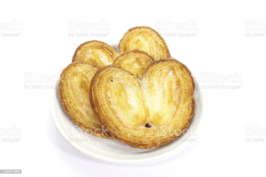 Crispy Sugar pie on white background royalty-free stock photo