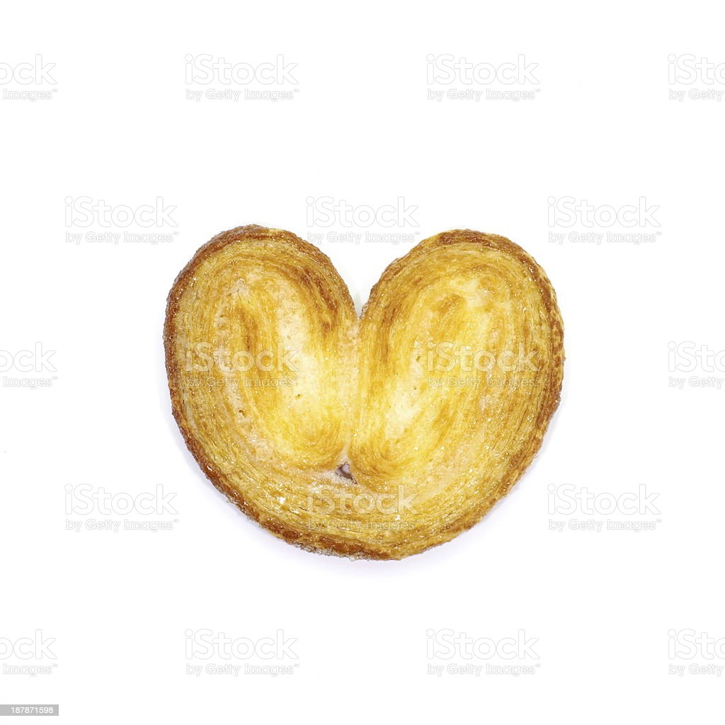 Crispy Sugar pie on white background royalty-free stock photo