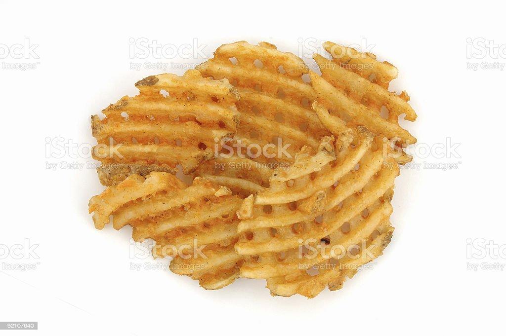 Criss cut fries stock photo