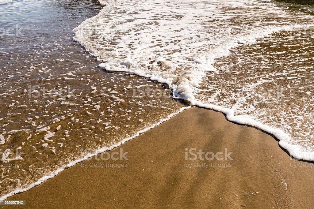Crisscross Waves stock photo