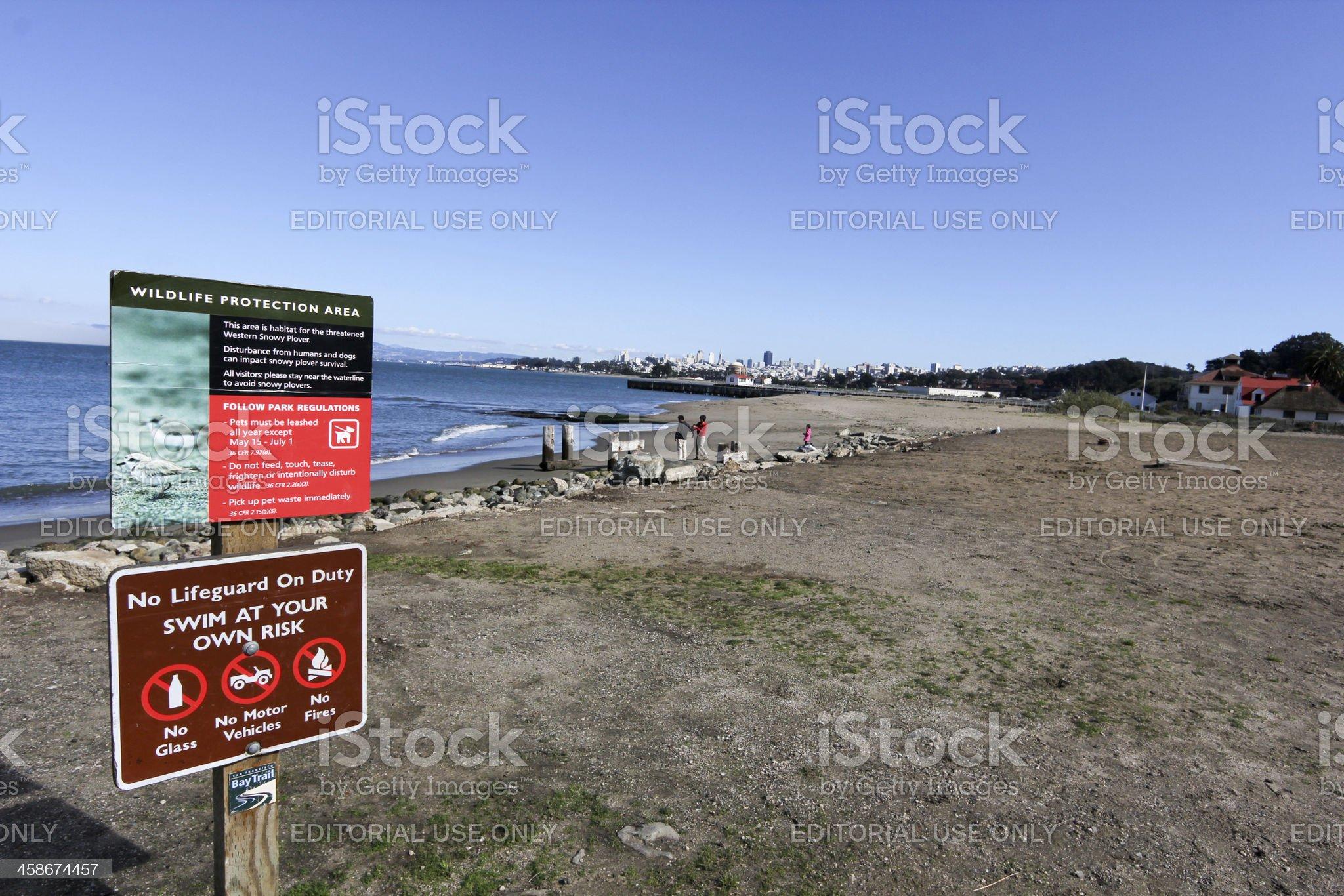 Crissy Fields in San Francisco, California royalty-free stock photo