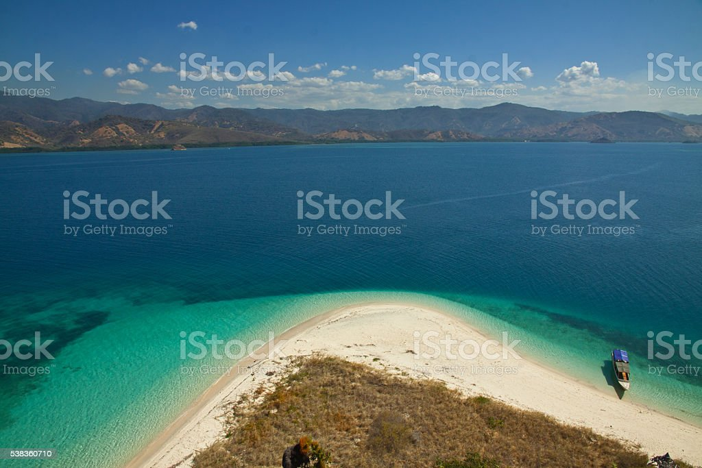 Cristal Clear Water lagoone 17 Islands Riung Flores Indonesia stock photo