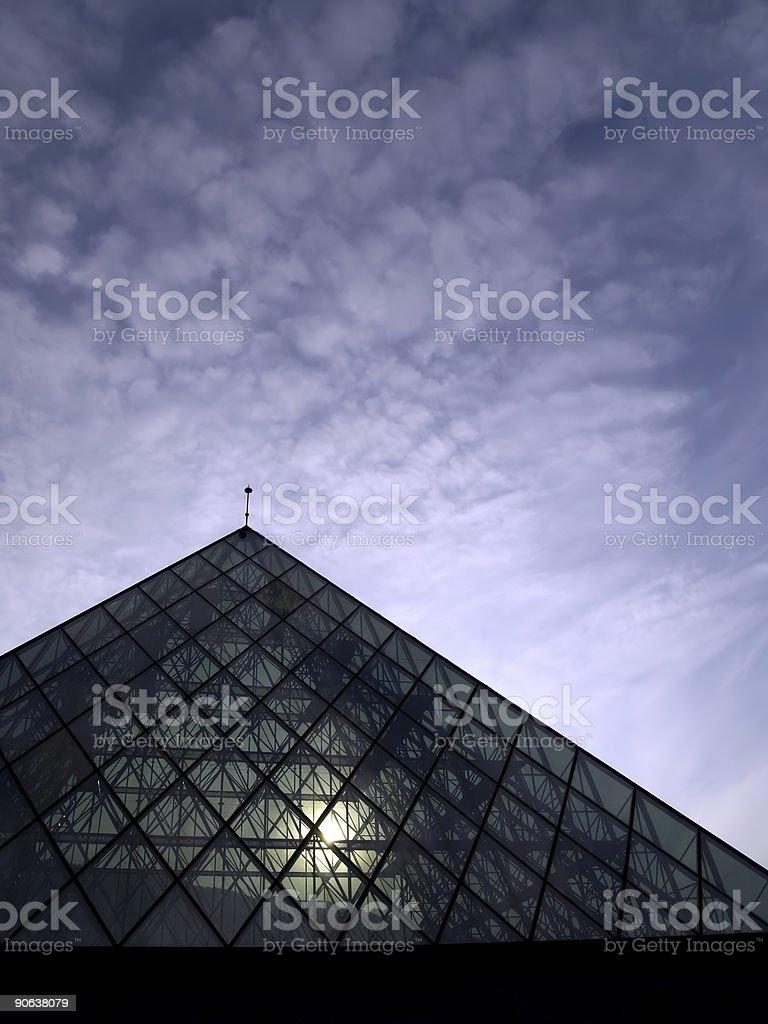 cristal pyramid stock photo