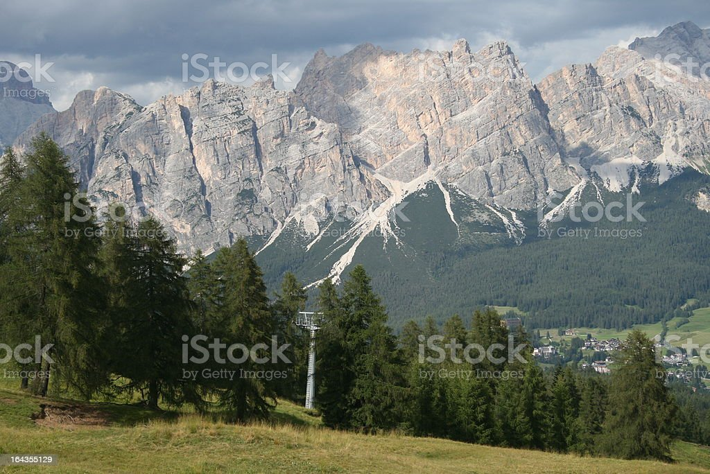 Cristallo Group, Cortina, Italy royalty-free stock photo