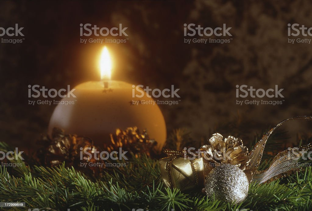 Cristmas candle. royalty-free stock photo