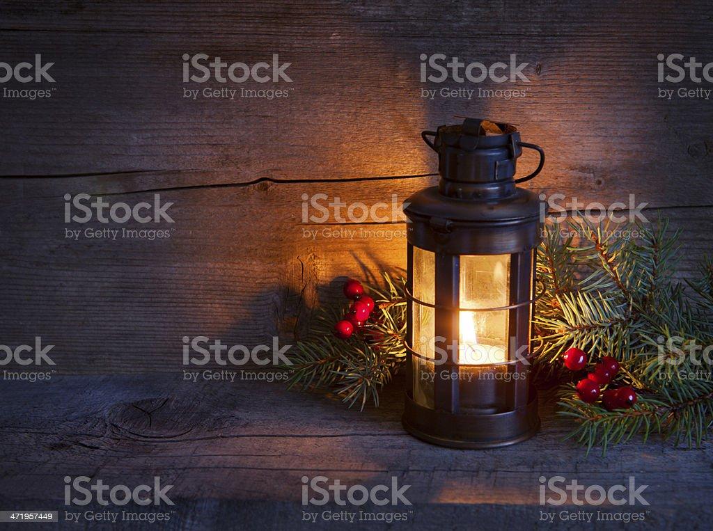Cristmas lantern stock photo