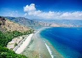 cristo rei landmark beach landscape view near dili east timor