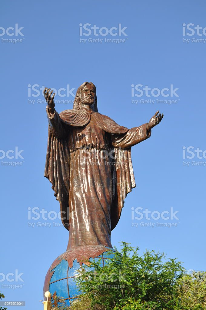 Cristo Rei of Dili, East Timor stock photo