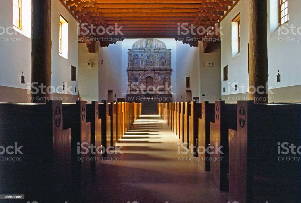 Cristo Rey Church stock photo