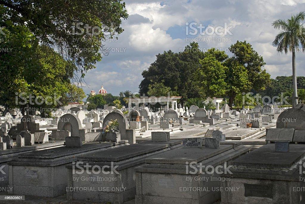 Cristobal Colon Cemetery, Havana, Cuba royalty-free stock photo