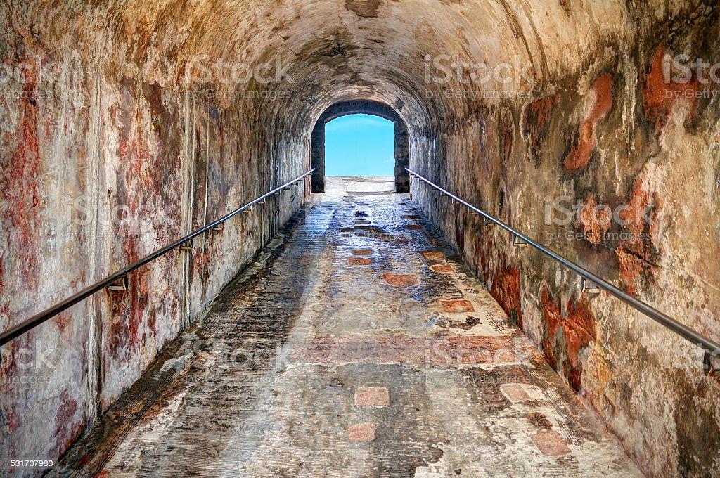 Cristobal tunnel stock photo