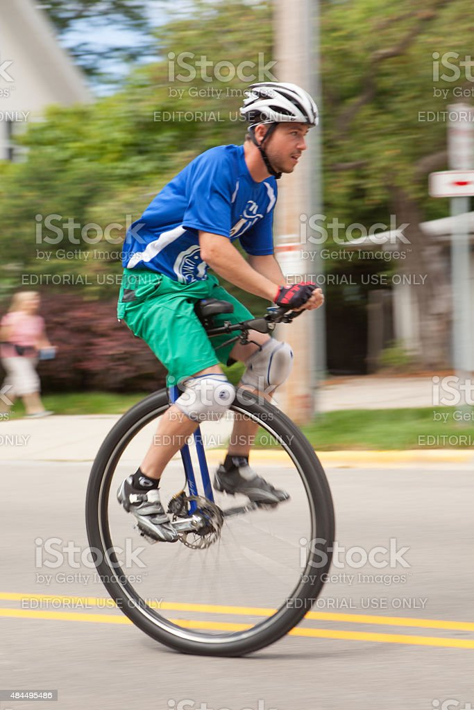 Criterium portion of the Unicycle National Championships stock photo