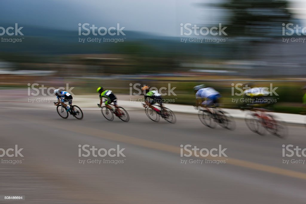Criterium Road Bike Race stock photo
