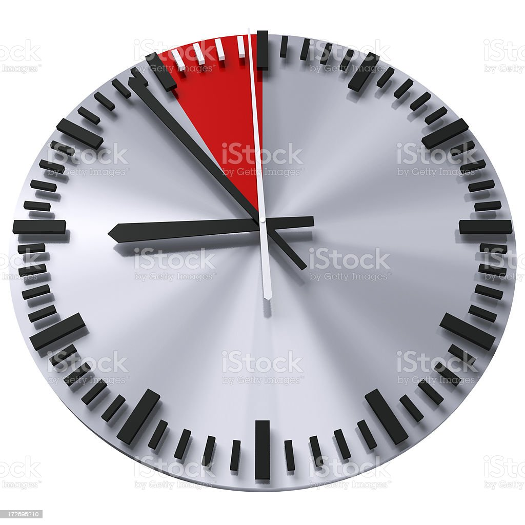 Critical time royalty-free stock photo