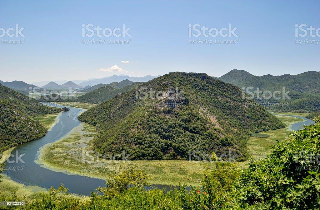 Rzeka Crnojevica, Czarnogóra zbiór zdjęć royalty-free