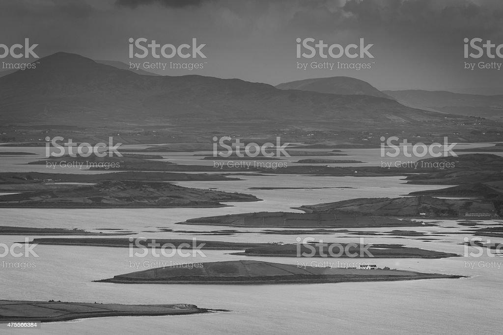 Croagh Patrick Sea View stock photo