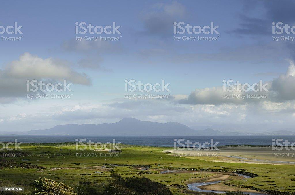 Croagh Patrick view from Mulranny, County Mayo royalty-free stock photo