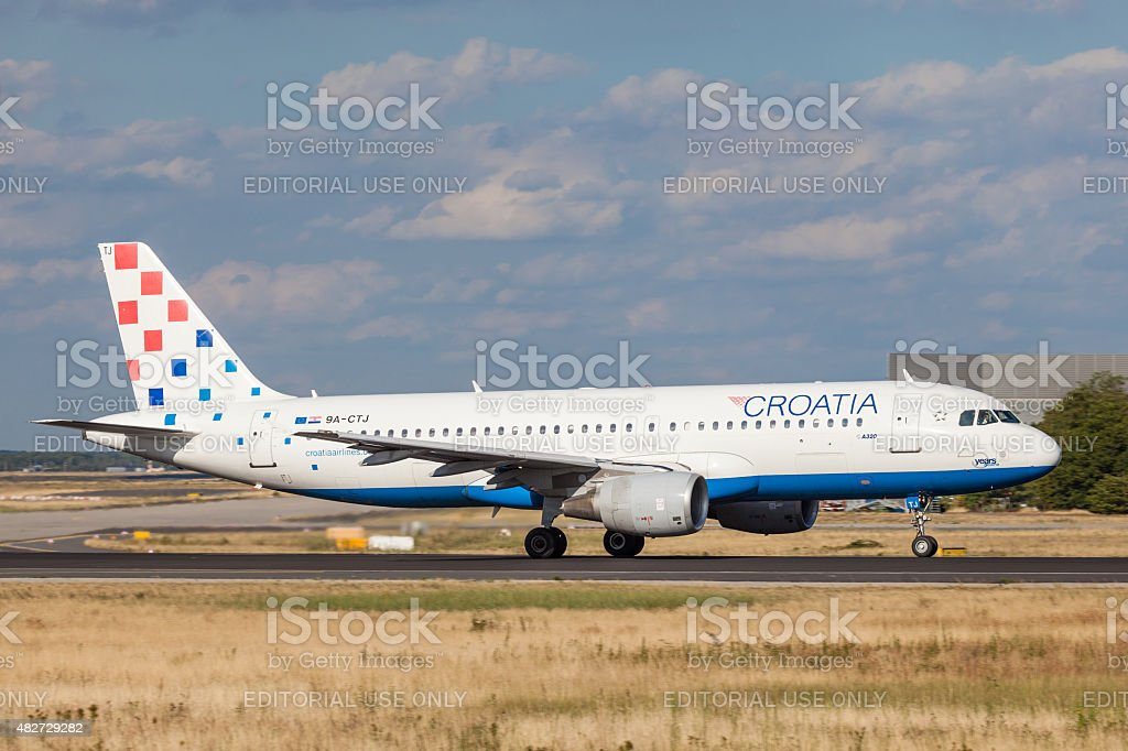 Croatia Airlines Airbus A320 stock photo