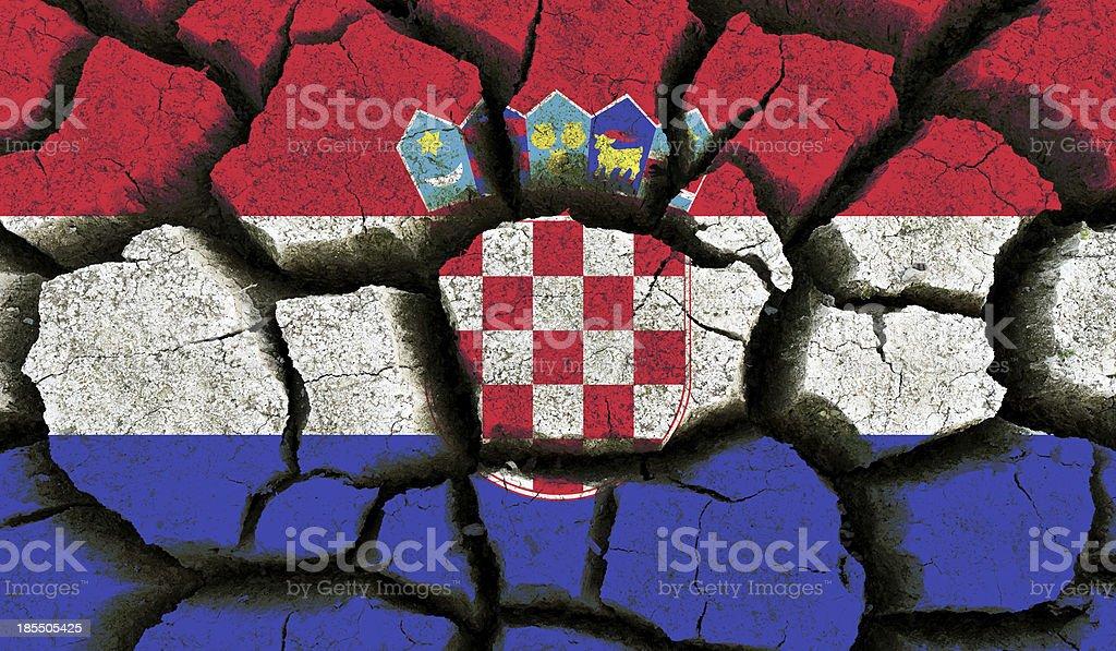 Croatia flag. royalty-free stock photo