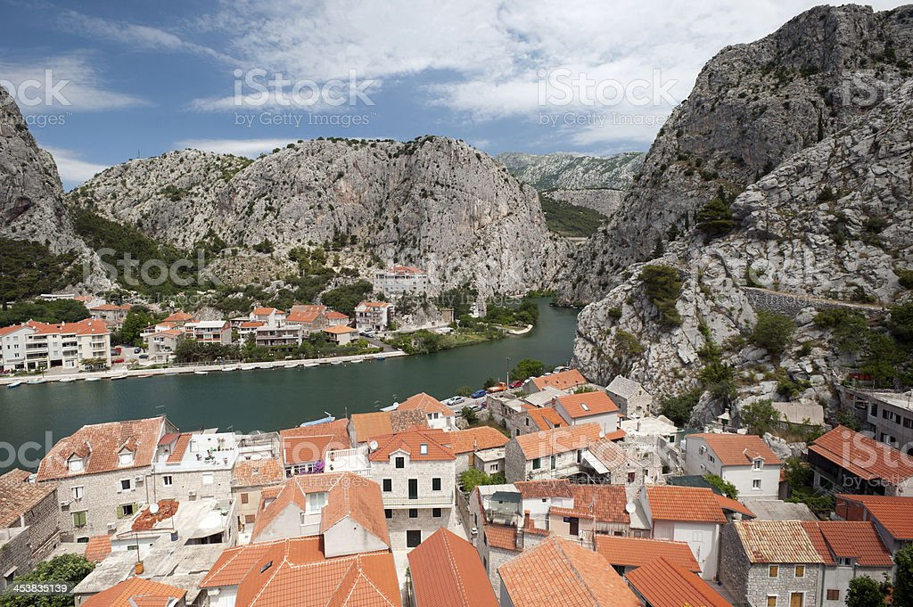 Croatia, Omis royalty-free stock photo
