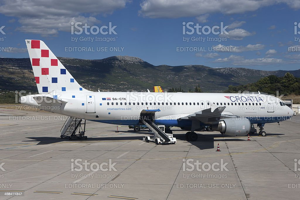 Croatian Airlines stock photo