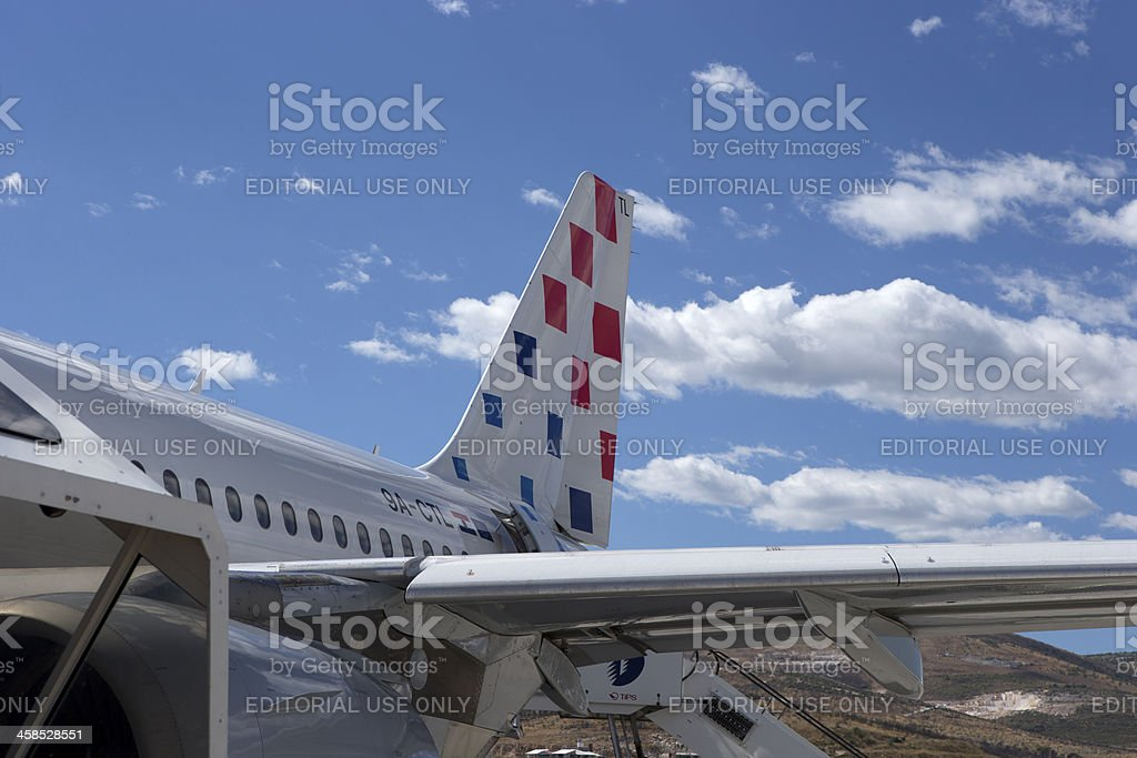 Croatian Airlines tail stock photo