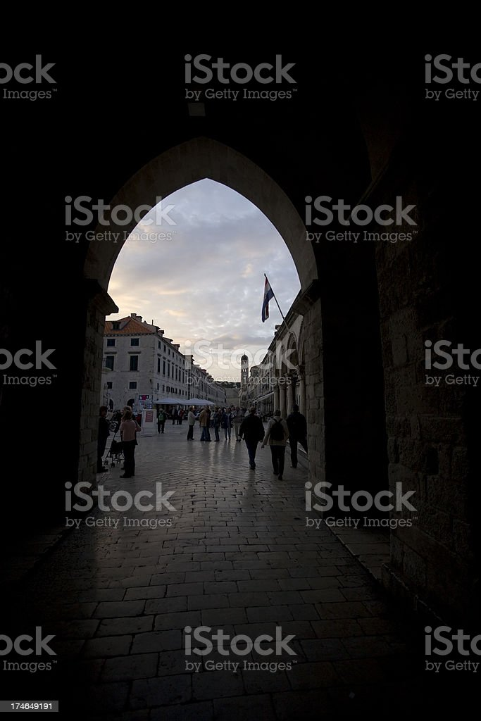 croatian archway royalty-free stock photo