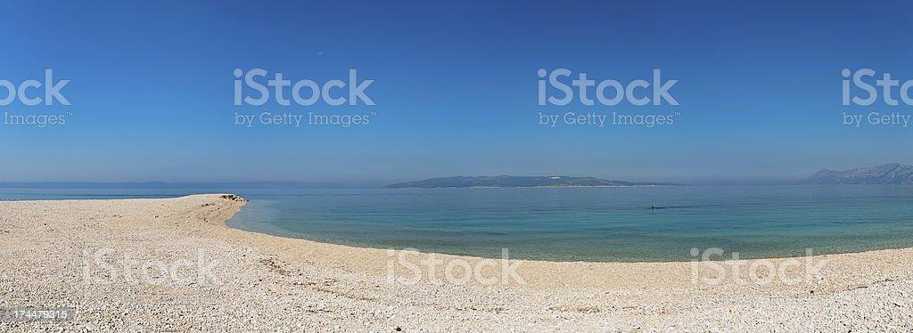 Croatian beach panorama - 42MPix XXXXL size royalty-free stock photo