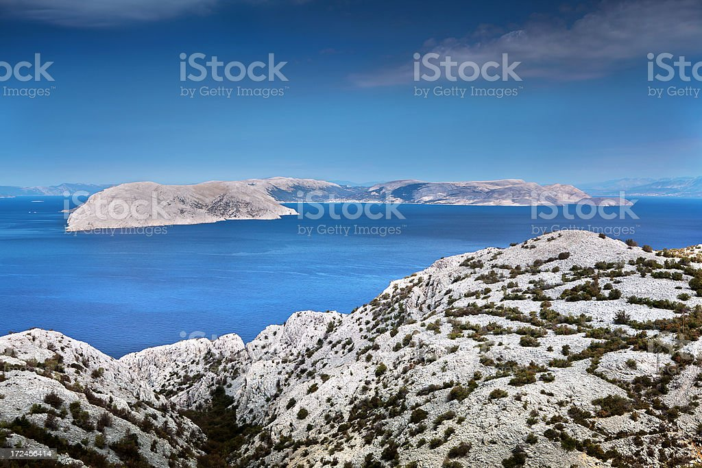Croatian coastline royalty-free stock photo