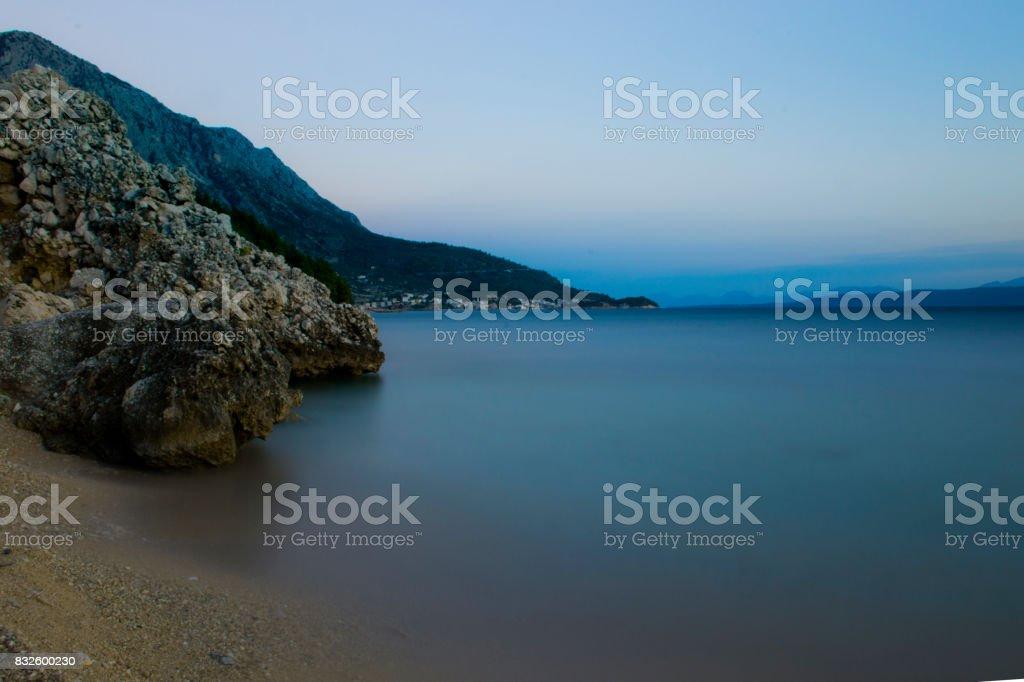 Croatian dusk stock photo