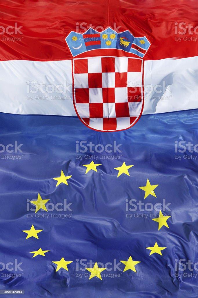 Croatian & Eu royalty-free stock photo
