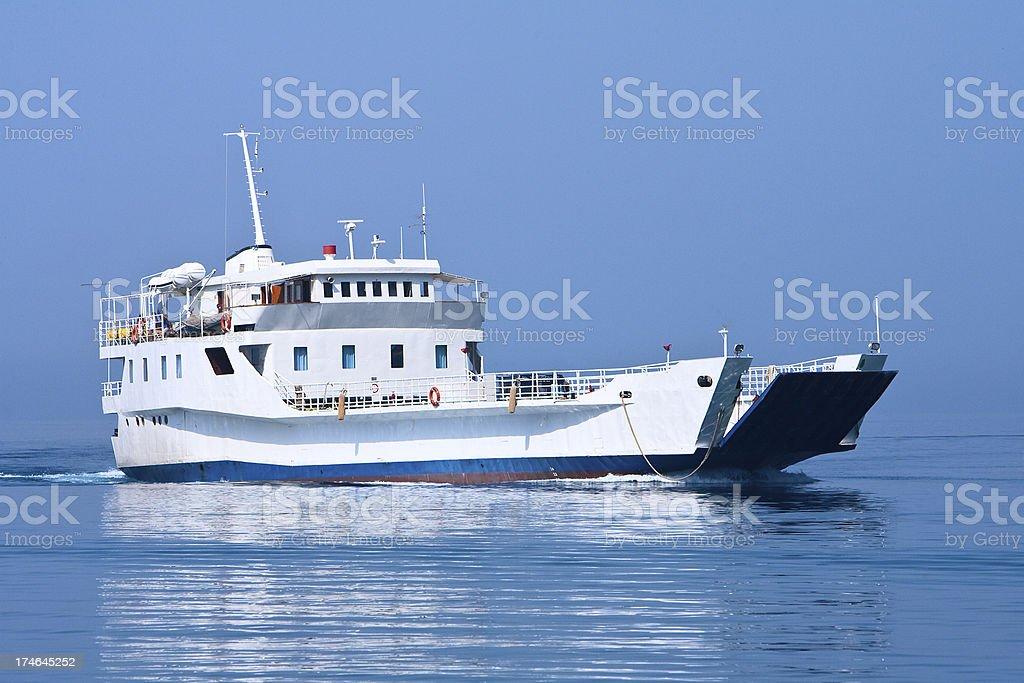 Croatian ferry royalty-free stock photo