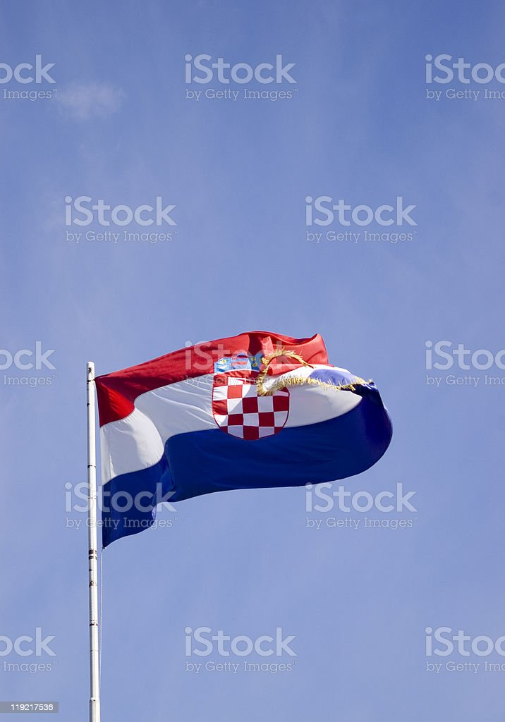 Croatian flag stock photo
