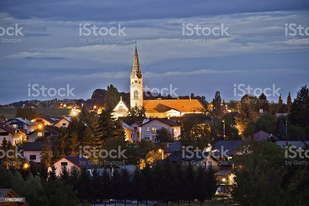 Croatian Greek Catholic Cathedral, Krizevci stock photo