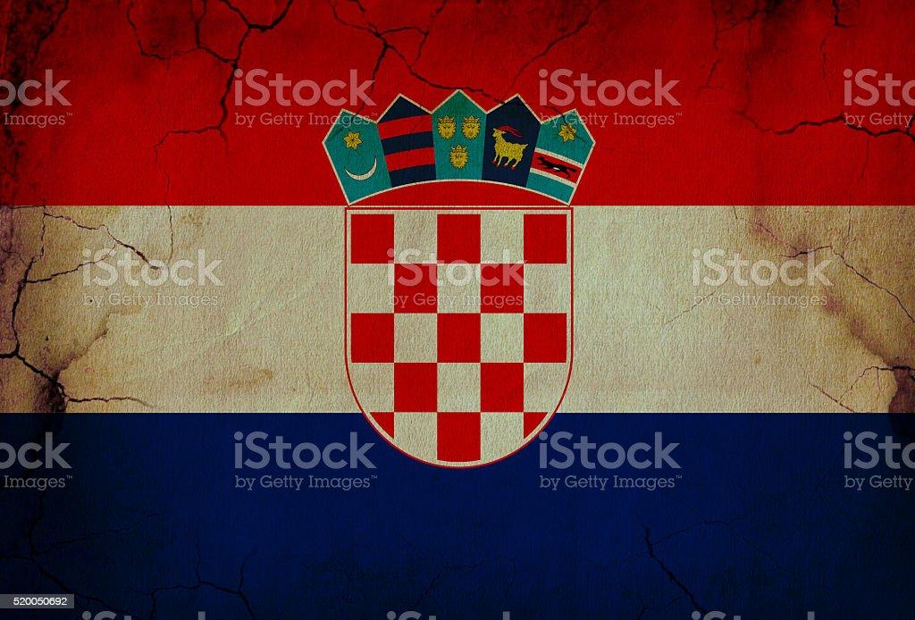 Croatian grunge flag stock photo