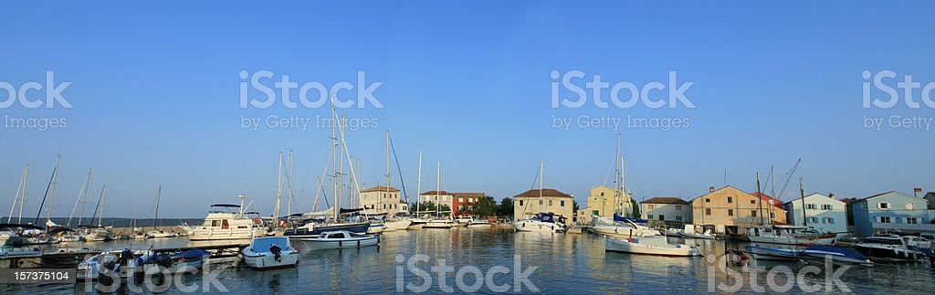 Croatian harbour royalty-free stock photo