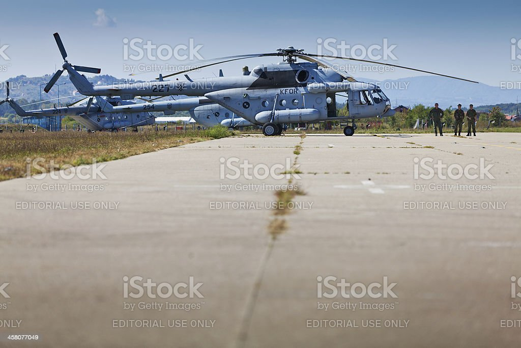 Croatian Military's Mi-171Sh helicopters during Zagreb Airshow royalty-free stock photo